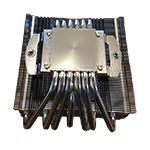 bottom view of a aluminum heatsink