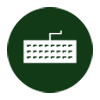 keyboard icon - negative green