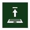 laptop upgrade icon - green negative
