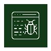 browser malware icon - green negative